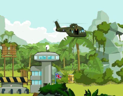 لعبة الانقاذ بالهليكوبتر