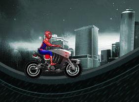 سبايدر مان راكب الدراجة