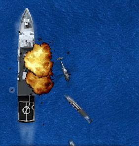 لعبة حرب في البحر