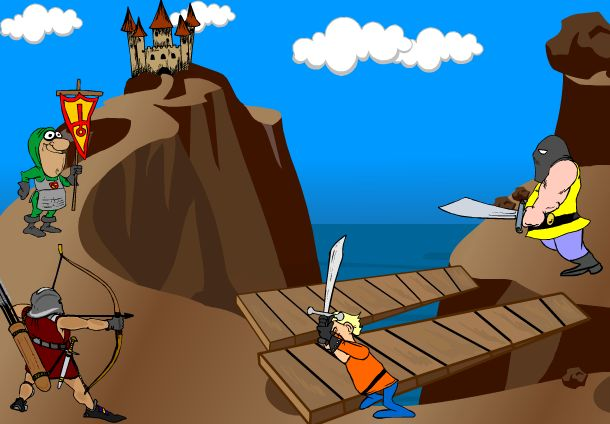 لعبة روبن هود حامى القلعة