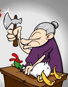 لعبة رؤوس الدجاج