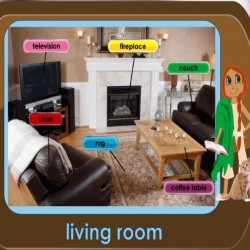 English for Kids - living room