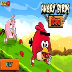 لعبة الطيور الغاضبة تجري