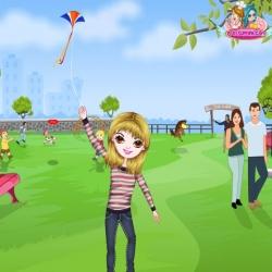 لعبة الطفلة السعيدة