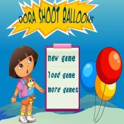لعبة دورا وفقع البالونات