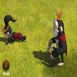 لعبة كرة قدم القرود
