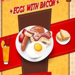 لعبة طبخ البيض مع اللحم