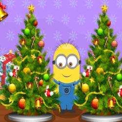 لعبة الأختلاف في شجرتين عيد الميلاد