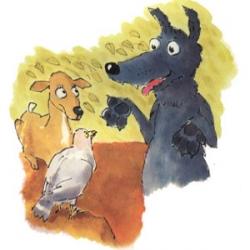 قصة الذّئب المغرور والنّعجة الذكية