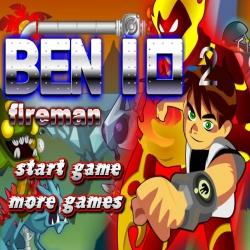 لعبة بن10 رجل النار