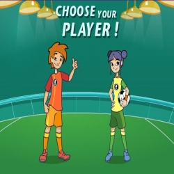 لعبة كرة القدم بنات ضد الأولاد
