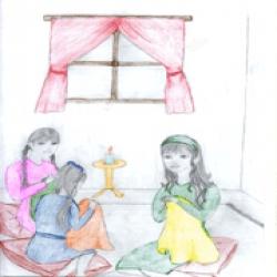 قصة الفتيات الثلاث
