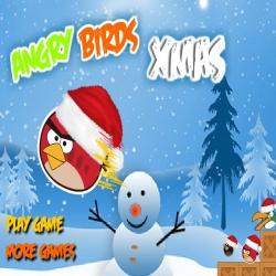 لعبة الطيور الغاضبة والكريسمس