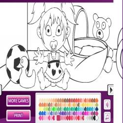 لعبة تلوين رسومات أطفال جذابة