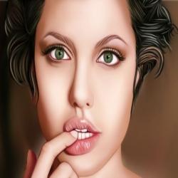 لعبة ميك اب الفنانة انجلينا جولي الرائعة