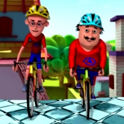 لعبة سباق الدراجات للاطفال