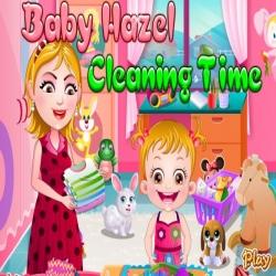 لعبة تنظيف المطبخ مع هازل وامها