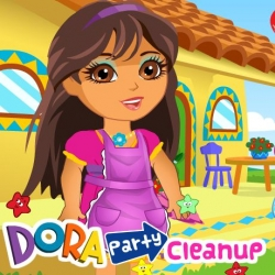 لعبة تنظيف منزل دورا