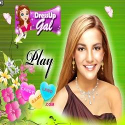 لعبة مكياج المغنية العالمية برتني سبيرز