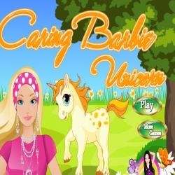 لعبة تنظيف حصان باربي الأميرة