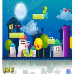 لعبة مغامرات سبونج بوب فى عالم ماريو