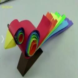 كيف تصنع عصفور جميل من الورق