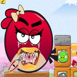 لعبة تنظيف اسنان الطيور الغاضبة
