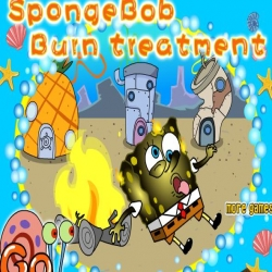 لعبة سبونج بوب وعلاج الحروق
