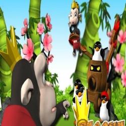 لعبة مغامرات الغوريلا والبطريق