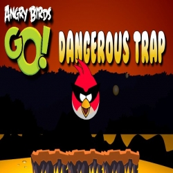 لعبة الفخ الخطير للطيور الغاضبة