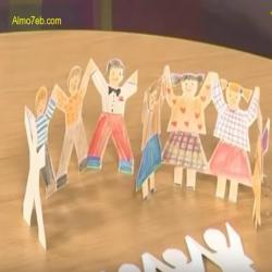 بالفيديو كيف نرسم اطفال يشبكون ايديهم ببعضهم