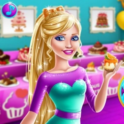 لعبة باربى تحب الحلوى