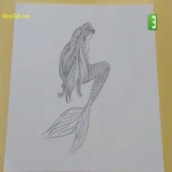سكتش - رسم حورية