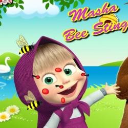 لعبة ماشا ولدغة النحلة