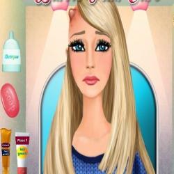 لعبة باربي علاج الشعر