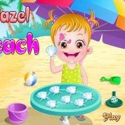 لعبة بيبي هازل على الشاطئ الجميل