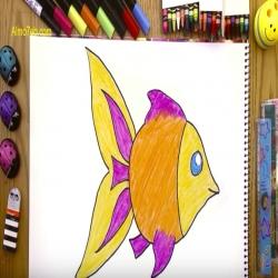 رسمة ومعلومة - كيف ارسم سمكة