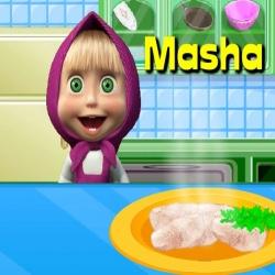 لعبة ماشا فى مدرسة الطبخ
