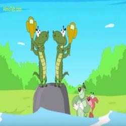 الفئران الثلاثة - الفئران الثلاثة يجرون حيوانات الغابة