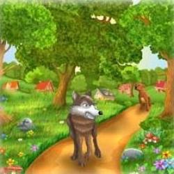 قصة الذئب ومنزل الكلب