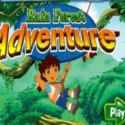 لعبة مغامرات دورا ودييغو في رحلة تصوير في الغابه