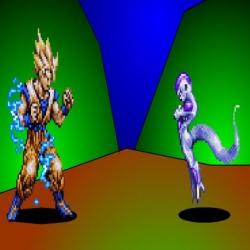 لعبة دراغنبول قتال بين غوكو و فريزا