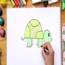 رسمة ومعلومة - كيف ارسم سلحفاة