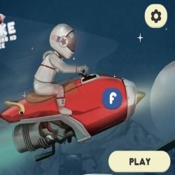 لعبة سباق دراجات الفضاء