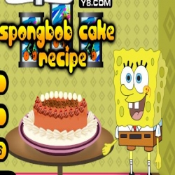 لعبة سبونج بوب وصفة كعكة