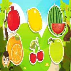 سلسلة الكرتون التعليمي المبسط لتعريف الطفل بأسماء الفواكة والخضروات