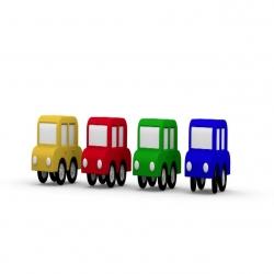 سلسلة حلقات الكرتون التعليمي السيارات الأربع الملونة