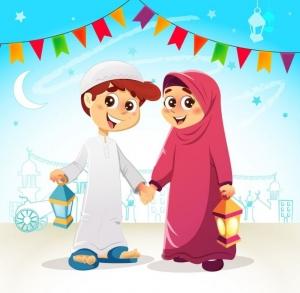 أنشودة شهر لياليه أعياد ....تأليف مريم الكرمى