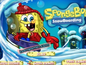 لعبة سبونج بوب والتزلج على الجليد