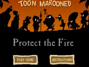 لعبة حرب الكارتون Toon Marooned Protect The Fire